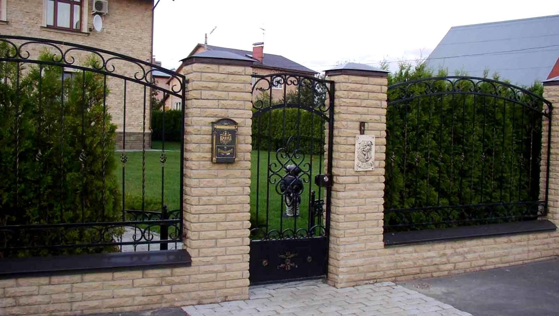 Забор перед домом фото 4