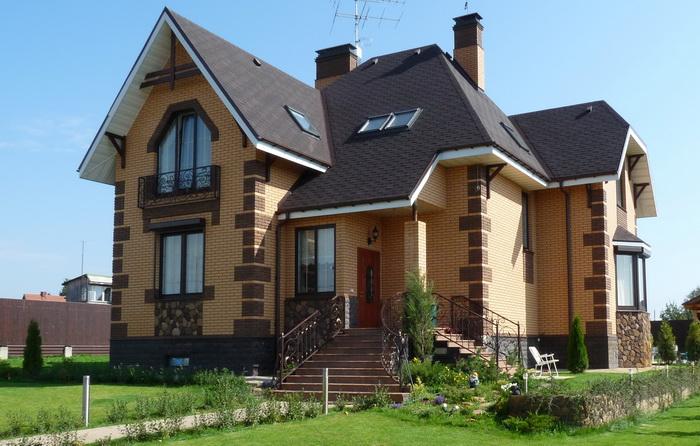 Красивые кирпичные дома фото