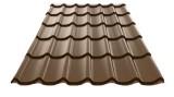 Металлочерепица «Супермонтеррей», цвет RAL 8017 шоколад (глянец)