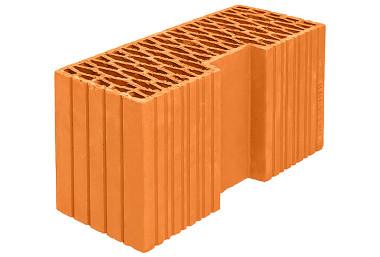 Поризованный керамический блок Porotherm 44R угловой элемент