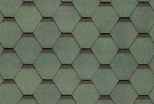 Гибкая черепица Shinglas, серия Ультра Самба, цвет Зеленый