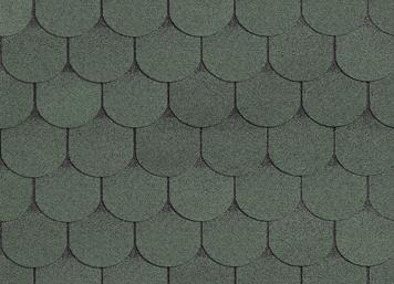 Гибкая черепица Shinglas, серия Классик Танго, цвет Зеленый