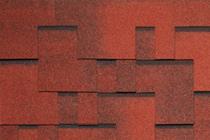 Гибкая черепица Tegola, серия Альпин, цвет Красный с отливом