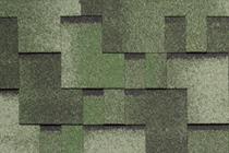 Гибкая черепица Tegola, серия Альпин, цвет Зеленый с отливом