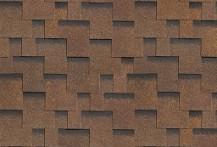 Гибкая черепица Shinglas, серия Классик Кадриль, цвет Аккорд-коричневый