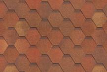 Гибкая черепица Shinglas, серия Классик Кадриль, цвет Красно-коричневый