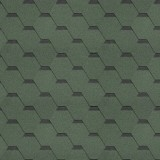 Гибкая черепица Shinglas, серия Классик Кадриль, цвет Зеленый
