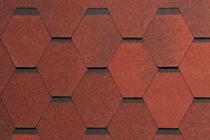 Гибкая черепица Tegola, серия Нордик, цвет Красный с отливом