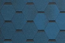 Гибкая черепица Tegola, серия Нордик, цвет Синий с отливом