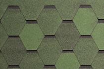 Гибкая черепица Tegola, серия Нордик, цвет Зеленый с отливом