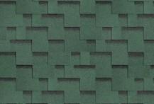 Гибкая черепица Shinglas, серия Ультра Джайв, цвет Зеленый