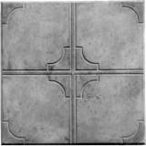 """Тротуарная плитка вибролитьевая """"Крест"""", серый"""
