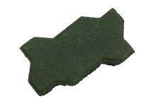 Брусчатка вибропрессованная «Волна», зеленый