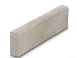 Бордюрный камень вибропрессованный 780х200х80 мм, серый