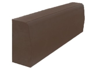Бордюрный камень вибропрессованный 780х300х150 мм, коричневый