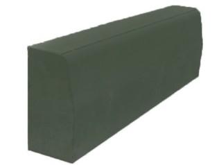 Бордюрный камень вибропрессованный 780х300х150 мм, зеленый