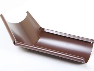 Угол желоба наружный 135º, 125/90 AQUASYSTEM, цвет RAL 8017 шоколад