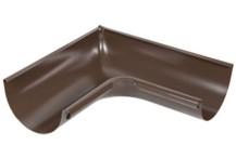 Угол желоба внутренний 90º, 125/90 AQUASYSTEM, цвет RAL 8017 шоколад