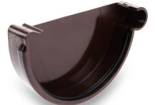 Заглушка универсальная с резиновым уплотнителем, 125/90 AQUASYSTEM, цвет RAL 8017 шоколад