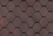 Гибкая черепица Shinglas, серия Классик Кадриль, цвет Гранат