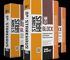 Клей монтажный STARKHAUS KM-1 BLOCK ЗИМА (зимние добавки), 25 кг