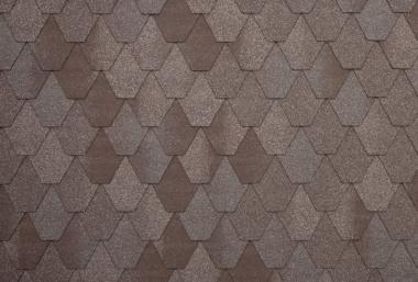Гибкая черепица Tegola, серия Лемех, цвет Серо-коричневый